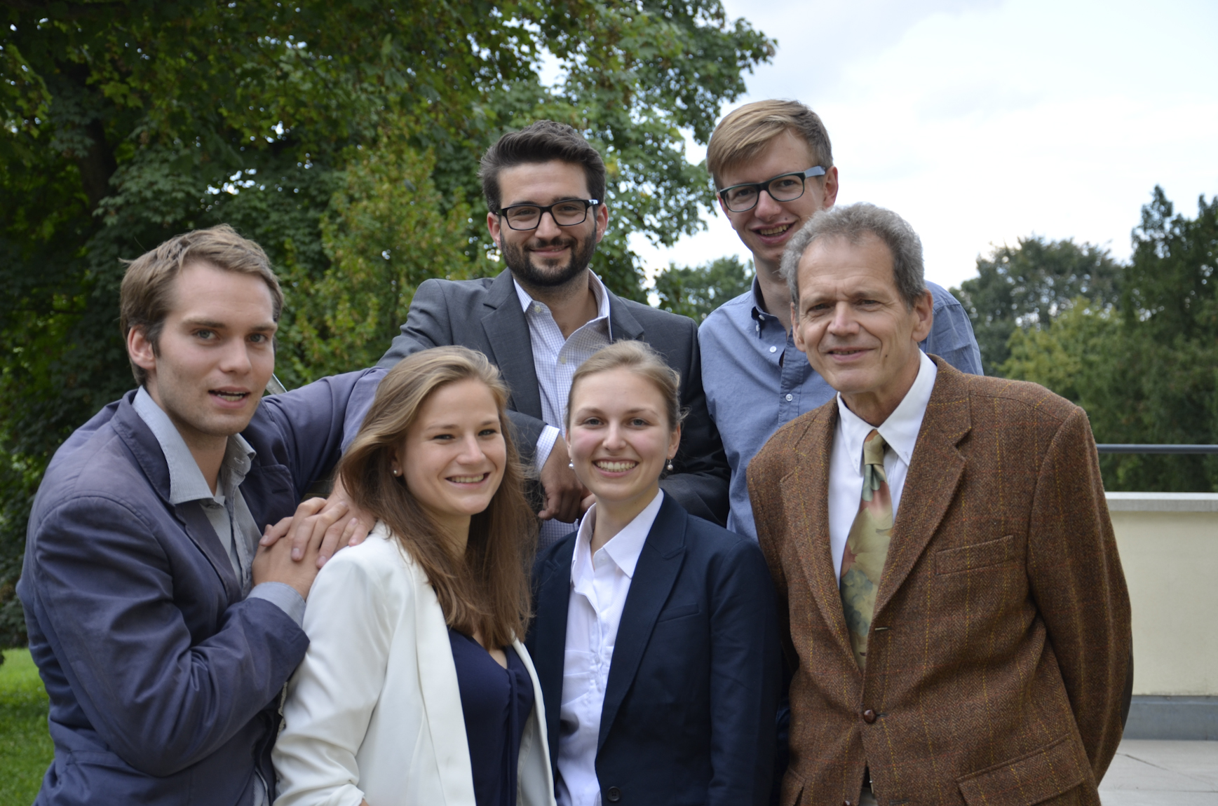 Die Joseph-Gruppe mit Schirmherr Albrecht Hoppe (Samira Sangkohl leider abwesend)